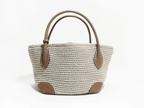 Genuine Leather Knitting Handmade Purse Shoulder by MillionKnit, $88.00