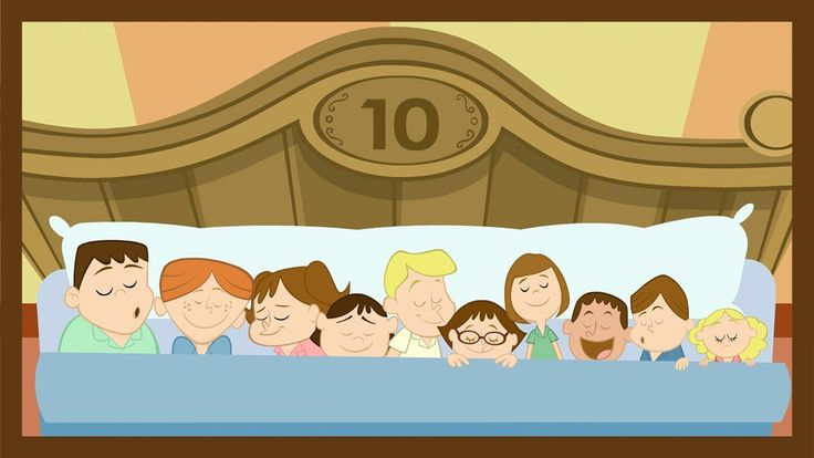 """Ten in the Bed"" or ""10 in the Bed""   This classic children's song ""Ten in the Bed"" is a great way to help young children learn basic math and subtraction skills. Have your child track how many are in the bed as they sing along! A classic song with original video animation from ABCmouse.com."