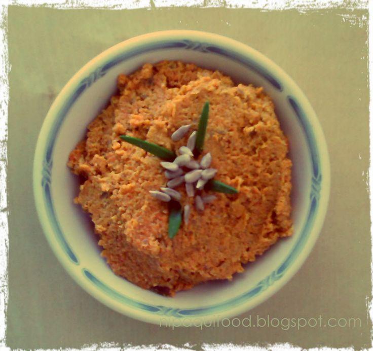 Wegańska edukacja Nipaqui: Orientalna pasta do chleba z marchewki i słonecznika