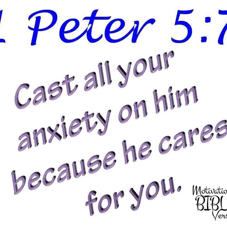 Cast all your anxiety on Him because He cares for you. #anxiety #God #Bible #care #inspiration #fb