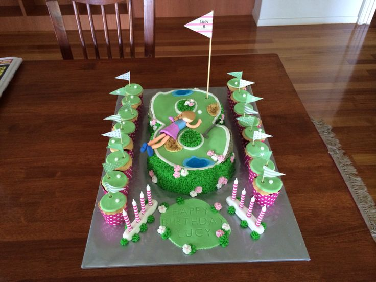 Mini Golf Birthday Cake For My Gorgeous 8 Year Old