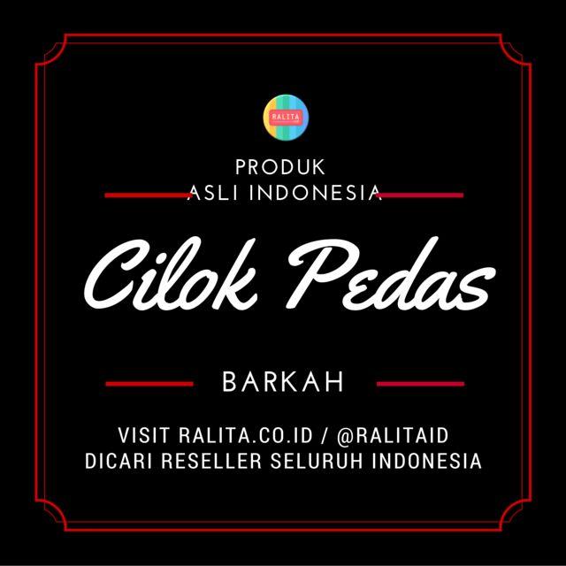 Toko Online Asli Indonesia Menjual Produk Unik, Asli Indo & Syar'i SMS/WA : 083897355537 BBM : RALITA Line/Twitter : @ralitaid Carousell/Path : ralita www.ralita.co.id  CILOK PEDAS BARKAH