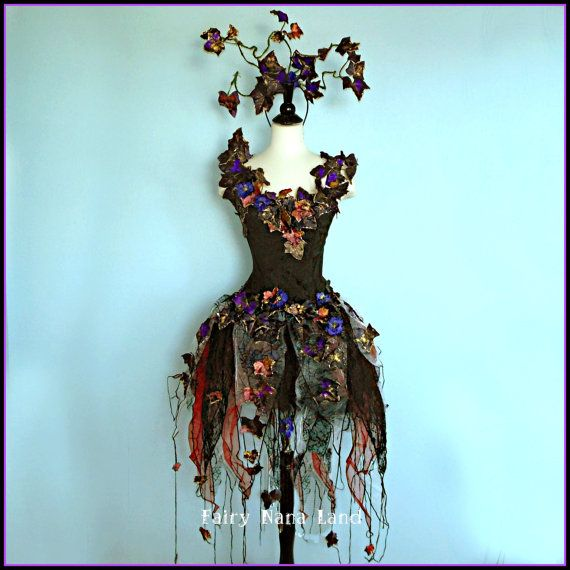 Faerie Costume - size small - The Enchantingly Evil Dark Faerie - Gothic Fairy - Black Widow -32 BUST