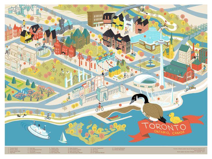Edward Juan, Map of Toronto, Ontario.