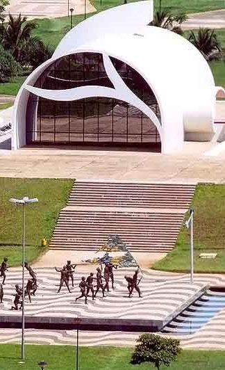 Monumento na cidade de Palmas, Tocantins, Brazil