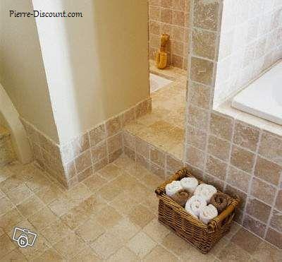 carrelage salle de bain marbre clair brut - Salle De Bain Travertin Entretien