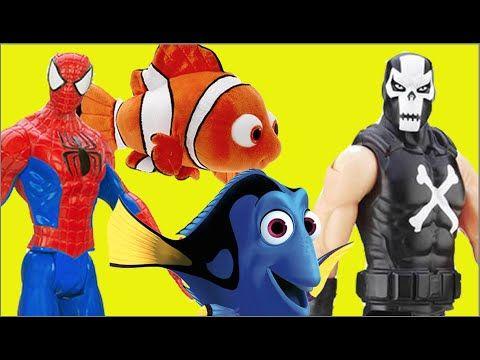 Homem Aranha Spider-Man Nemo Dory X Ossos Cruzados Crossbones Marvel Bri...