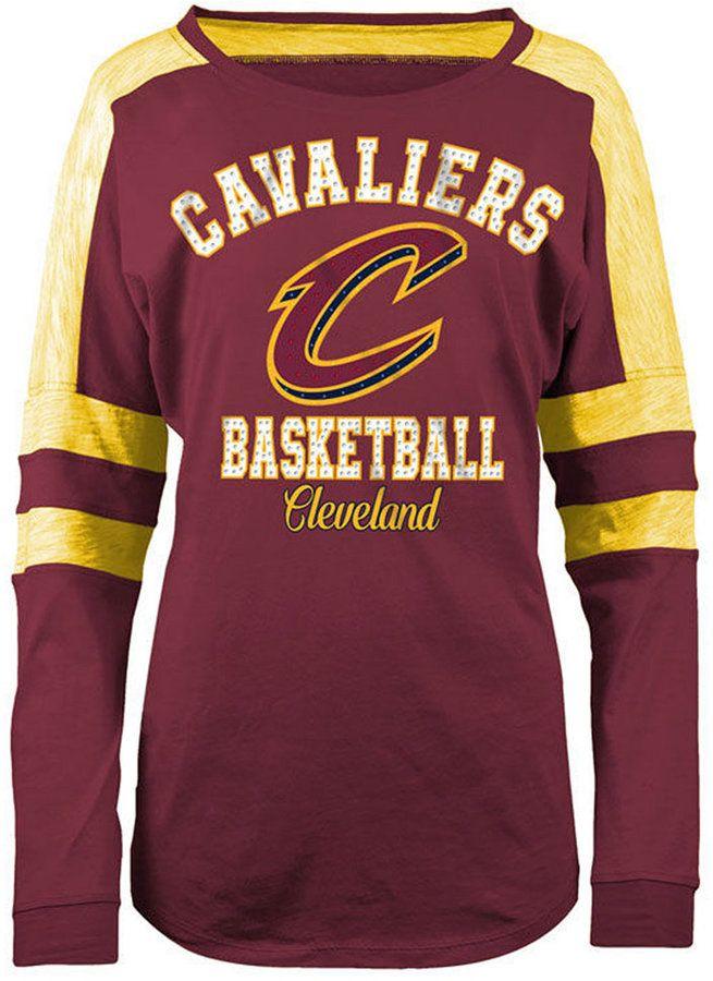 5th & Ocean Women's Cleveland Cavaliers Space Dye Long Sleeve T-Shirt