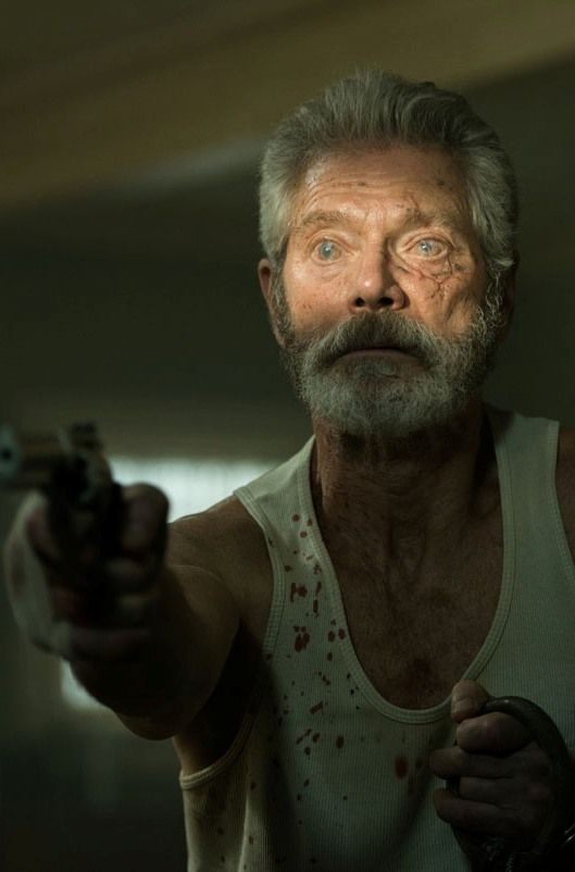 Dont-Breathe-movie-Stephen-Lang. This was really good! Lots of suspense. Not really jump scary but a great movie. Everyone in this movie is a victim including the old blind guy, so you kinda feel bad for everyone.