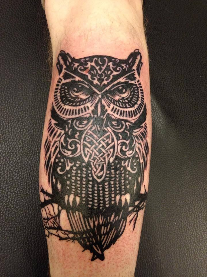 Owl Tattoo by Dorthe Romain, Skin & Colors Tattoo, Holstebro