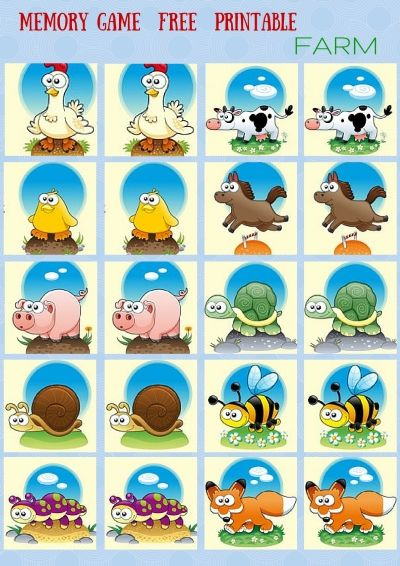 Animals - #Memory #game free printables
