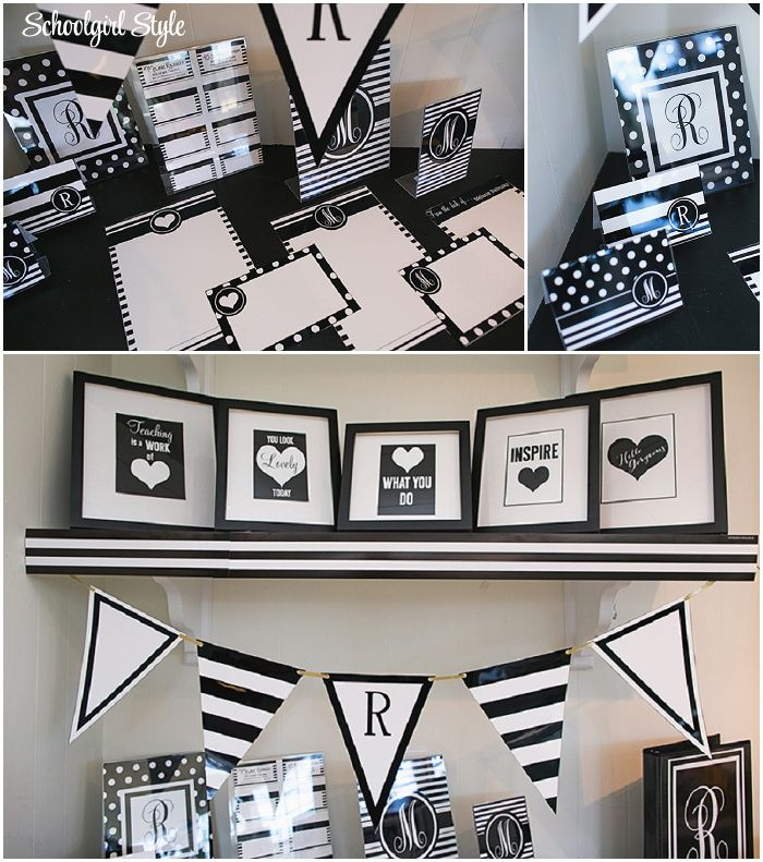 112 Best Black And White Clroom Decor Images On Pinterest Chalkboard School