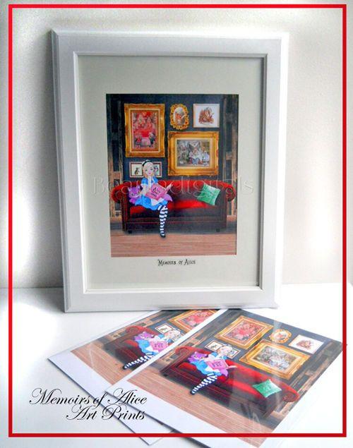 Alice in Wonderland Memoirs Art Print - 8 x10 inch Glossy Print 300dpi