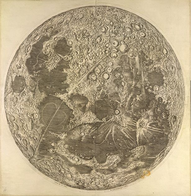 A Wonderful Scientific Map of the Moon from 1679: Can You Spot the Secret Moon Maiden? in Art, Astronomy, Maps, Science| August 14th, 2015