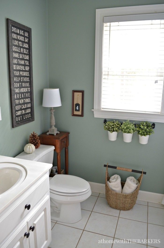 Holiday Ready Room Refresh / BEHR Marquee Green Trellis paint color / athomewiththebarkers.com