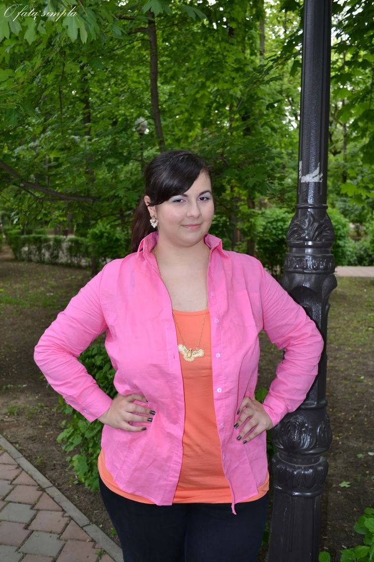 #outfit #pink #coral #tidestore #romwe  New outfit -> Casual outfit with pink shirt