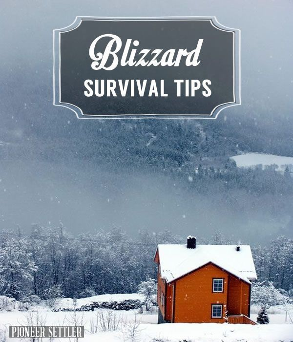 How to survive during Winter , survival tips & ideas . Emergency prepareness plan . | http://pioneersettler.com/blizzard-survival-tips/