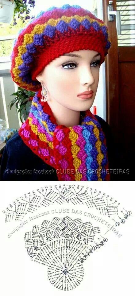 Scarf hat crochet pattern