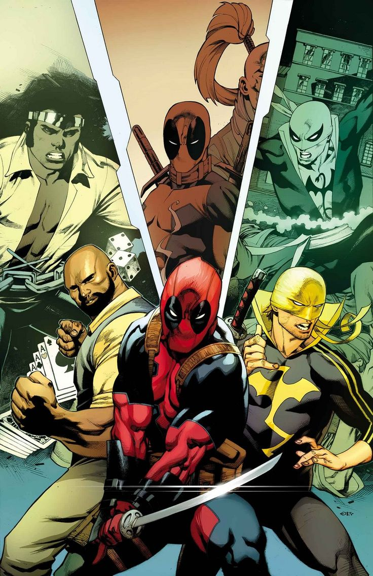 DEADPOOL #13 POWER MAN & IRON FIST VARIANT COVER BY CHRIS STEVENS