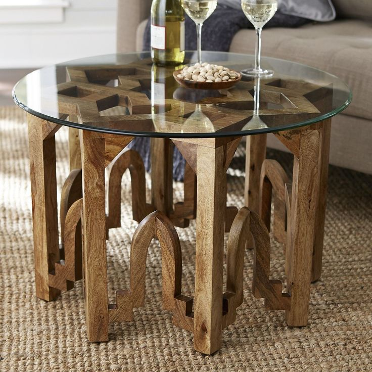 Traditional Moroccan tribal forms inspire our eight-pointed, star-shaped table base. Crafted of 100% solid mango wood, it's lightly finished to allow the rich natural grain to show through. Perfectly suited for one of our beveled glass table tops (sold separately), it provides just the sort of inspiration you'd expect from a Pier 1 exclusive.