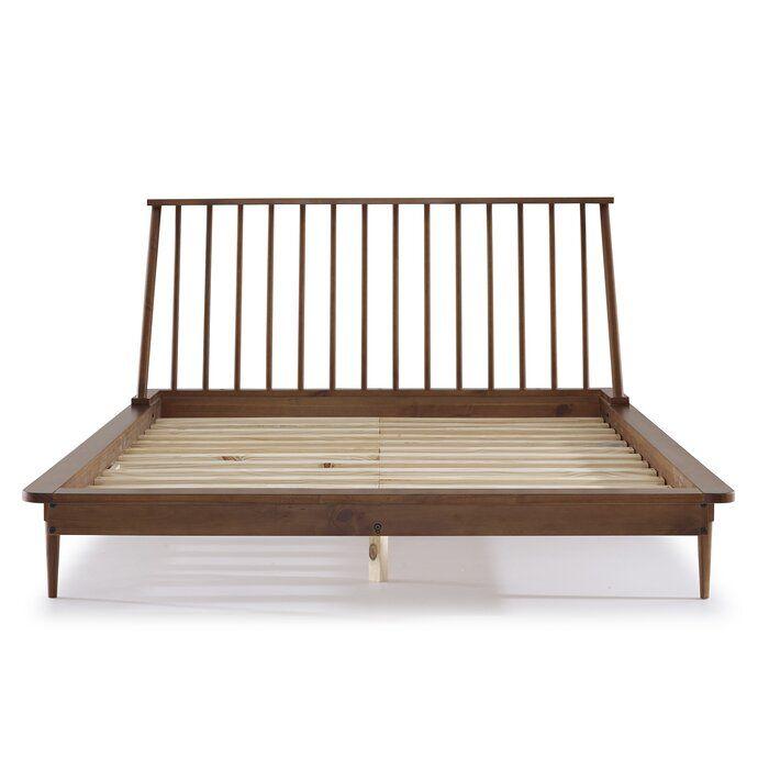 Dorinda Spindle Queen Platform Bed Allmodern Spindle Bed Queen Platform Bed Solid Wood Bed Frame