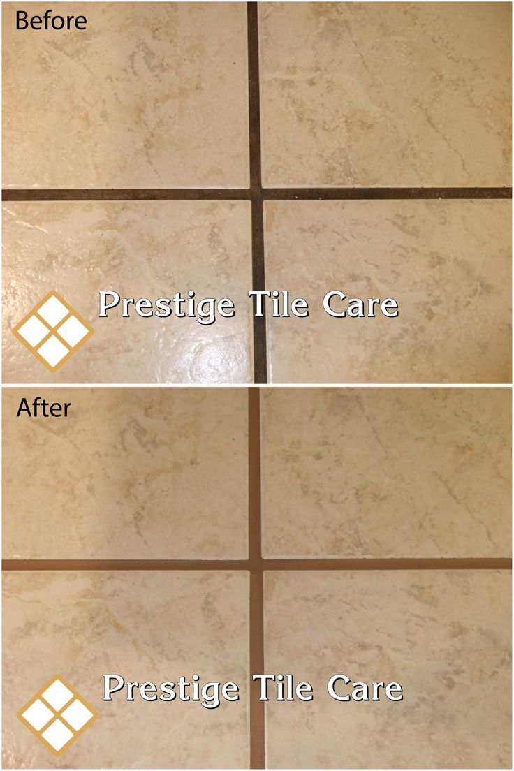 Before And After Colorsealing Grout Cleaningseattle