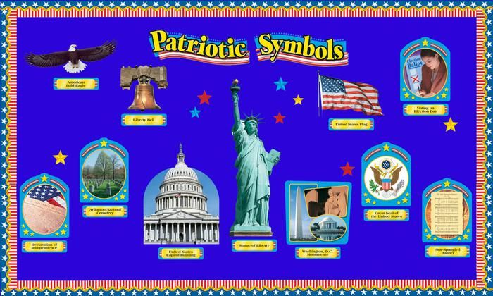 Patriotic Symbols! - Independence Day Bulletin Board