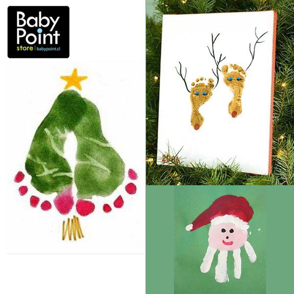 Esta navidad puedes hacer algo diferente para adornar tu hogar ... ¡Arte de bebé!  ¡Qué te parecen estas tiernas ideas? Aparte de adornar, te quedas con un recuerdo muy especial... *Revisa que la pintura que ocupes no sea dañina para tu bebé.