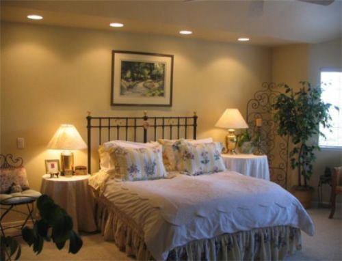 With Recessed Lights Above Bed There S Really No Need For Lamps On End Tables Have