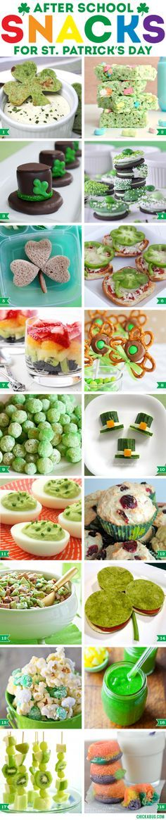 After-school snacks for St. Patrick's Day! Fun ideas!