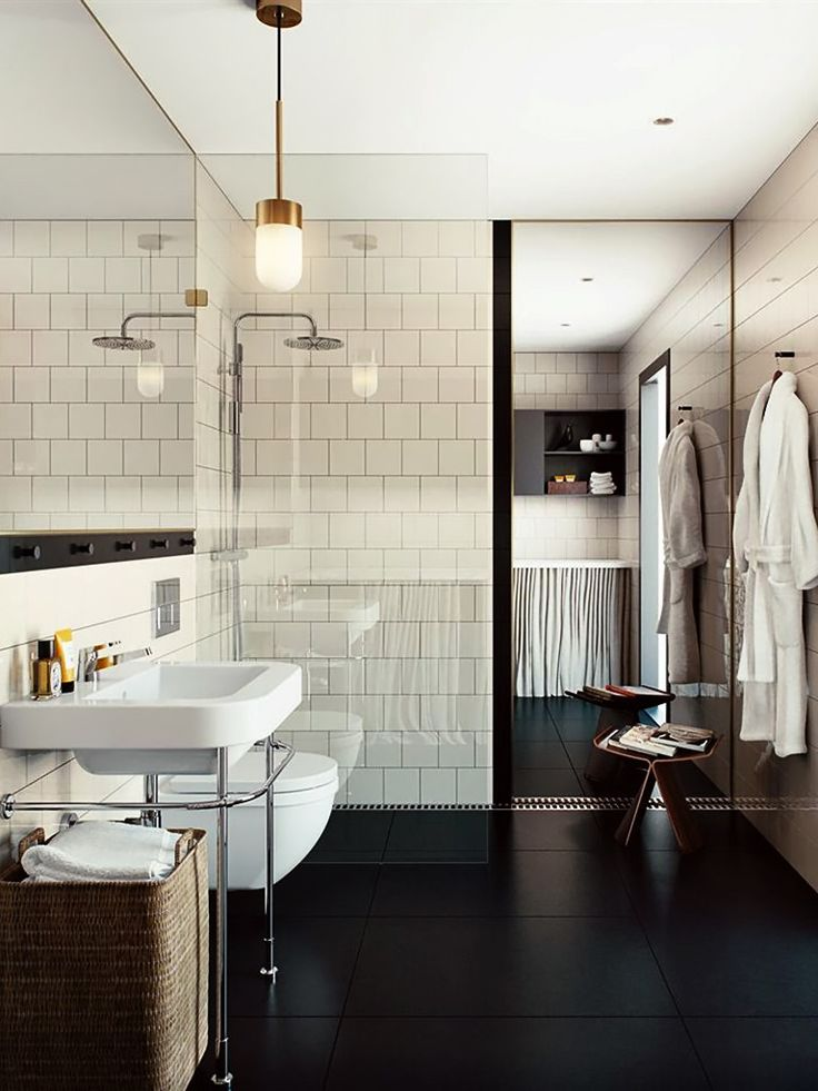 Banheiro revestido de azulejo branco oscar properties Tiles arrangement for bathroom