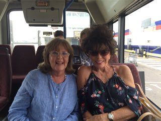 With Pauline Collins during filming for 'The Time of Their Lives' July 2016