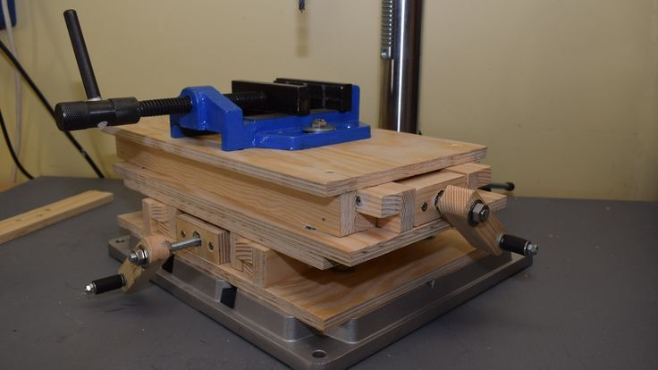 Making CNC XY Milling Table, Part 1: Building the base and testing it on the drill press - YouTube