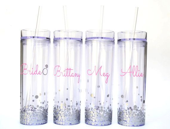 These customized tumblers are a great way to start the party! Check out 7 adorable and affordable Etsy bridesmaid gift ideas for more inspiration!