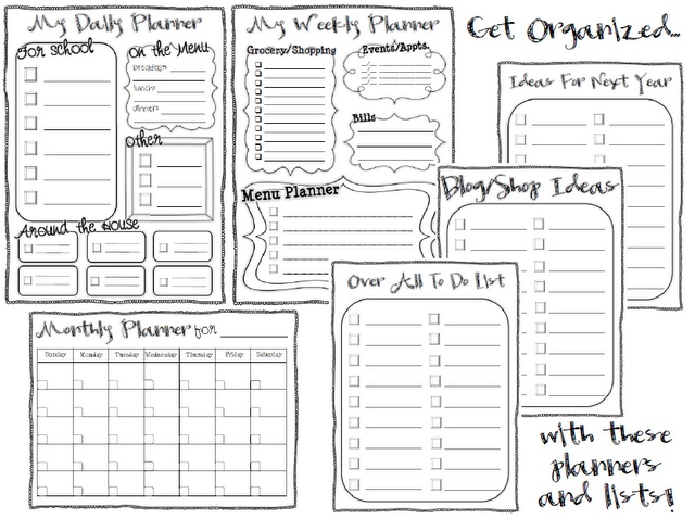 Ginger Snaps: Free Planners and To Do Lists: Printables, Organizations Planners, Classroom Freebies, Classroom Organizations, Teacher Planners Printable, Gingers Snap, Free Printable, Lists, Free Planners