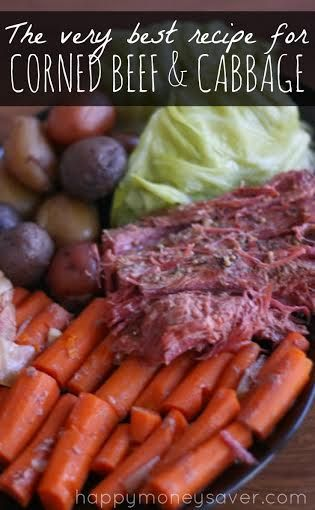 Homemade Corned Beef and Cabbage | Happy Money Saver. All the cooking is done in the crockpot! #slowcooker #cornedbeef #stpatricksday