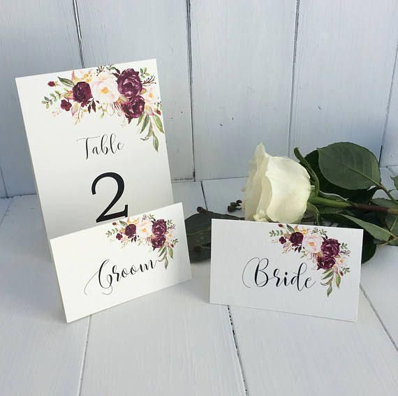 Hochzeit Tischkarten Marsala Hochzeit Tischkarten Burgund Weddingplaces Wedding Place Cards Wedding Places Marsala Wedding