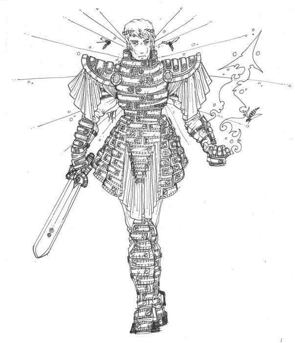 Wasp-kinden from Shadows of the Apt. Atrwork courtesy of David Mumford.