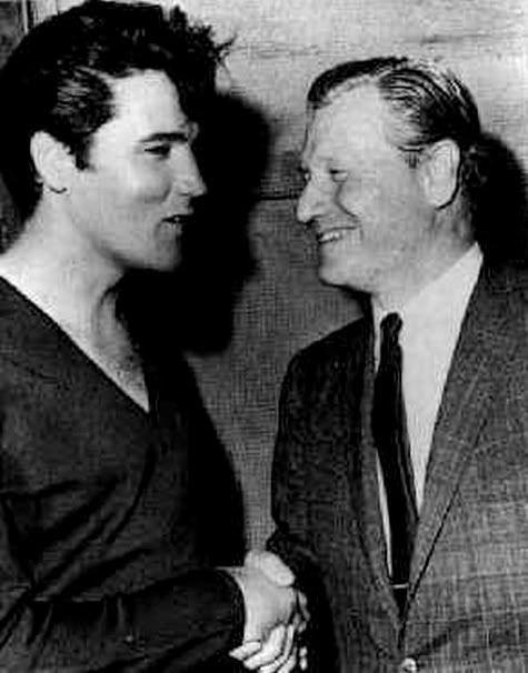 Elvis Presley and Gov. Nelson Rockefeller (R-NY)