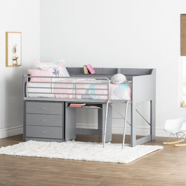 Alcester Twin Low Loft Bed With Drawers Low Loft Beds Loft Bed Twin Loft Bed