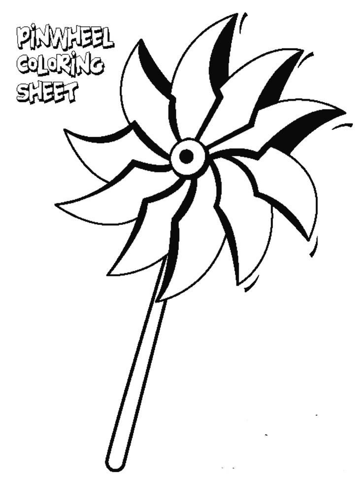 Color A Pinwheel With Your Child Support Prevent Child
