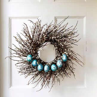 spring wreath: Doors, Crafts Ideas, Holidays, Easter Wreaths, Easter Eggs, Spring Wreaths, Wreaths Ideas, Twig Wreaths, Easter Ideas
