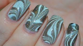 New Years Eve Water Marble tutorial