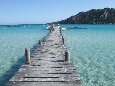 La belle plage de Santa Giulia, en Corse