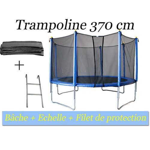 filet trampoline 370 kangourou trampoline cm et filet de protection amazonfr sports et loisirs. Black Bedroom Furniture Sets. Home Design Ideas