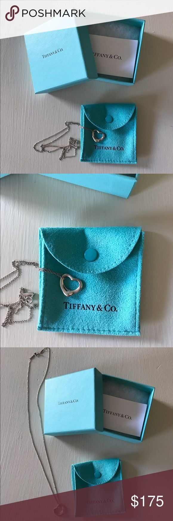 Tiffany & Co. heart necklace Tiffany & Co. heart necklace. Worn less then a handful of times. Kept in box and bag. Sterling silver Tiffany & Co. Jewelry Necklaces