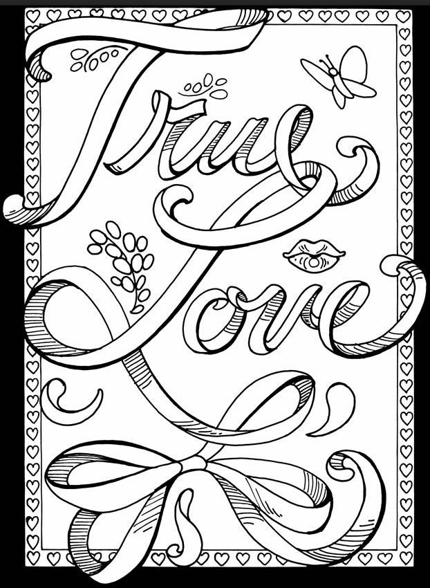 Printable Love Coloring Pages For Adults Coloring Panda Within Free