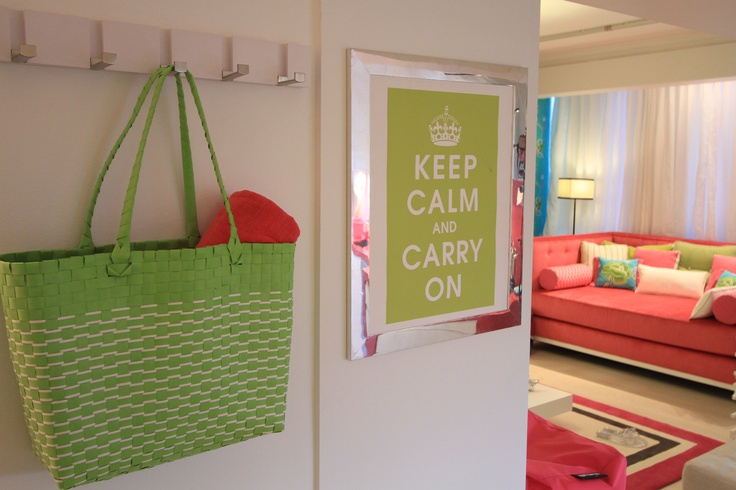 Designer's Guild Anichov Wallpaper, Turquoise, Pink, Green, keep calm poster