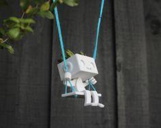 3dprinted niedlich Roboter saftigen Pflanzer von XYZWorkshop