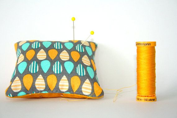 Small 3 x 3 Handmade Pin Cushion by WhiteLineProducts on Etsy, $9.00
